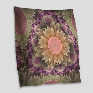 Pastel Pearl Lotus Garden of F Burlap Throw Pillow