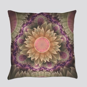 Pastel Pearl Lotus Garden of Fract Everyday Pillow