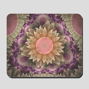 Pastel Pearl Lotus Garden of Fractal Dah Mousepad