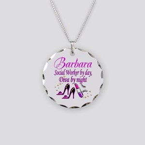 TOP SOCIAL WORKER Necklace Circle Charm