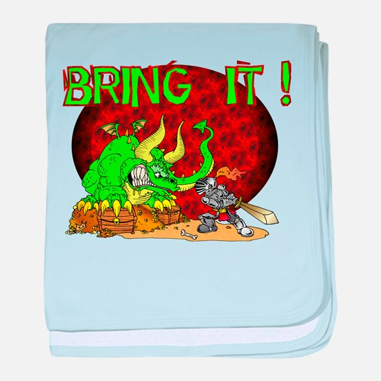 Bring It Dragon ! baby blanket