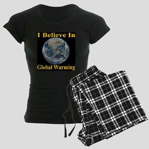 I Believe In Global Warming Women's Dark Pajamas