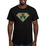 Super Shamrock Men's Fitted T-Shirt (dark)