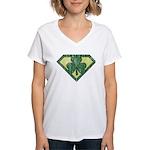 Super Shamrock Women's V-Neck T-Shirt