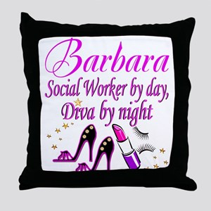 TOP SOCIAL WORKER Throw Pillow