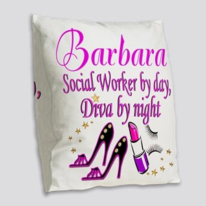 TOP SOCIAL WORKER Burlap Throw Pillow