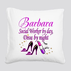 TOP SOCIAL WORKER Square Canvas Pillow