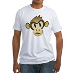 Disgruntled Monkey Fitted T-Shirt