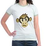 Disgruntled Monkey Jr. Ringer T-Shirt