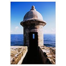 Turret of a castle, Morro Castle, Old San Juan, Sa Poster