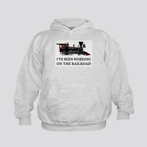 I've Been Working on the Railroad Kids Hoodie