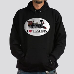 I LOVE TRAINS Hoodie (dark)