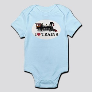 I LOVE TRAINS Infant Bodysuit
