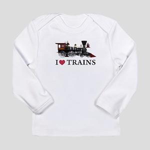 I LOVE TRAINS Long Sleeve Infant T-Shirt