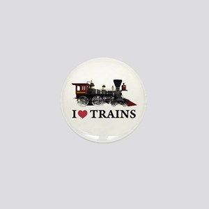 I LOVE TRAINS Mini Button