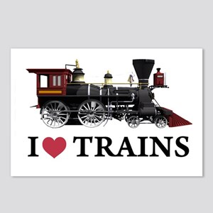 I LOVE TRAINS Postcards (Package of 8)