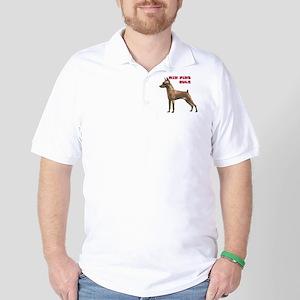 miniature pincher min pin Golf Shirt