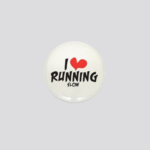 Funny I heart running slow Mini Button