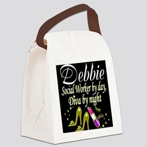 TOP SOCIAL WORKER Canvas Lunch Bag