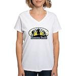 Women's V-Neck T-Shirt with Sunrise Logo