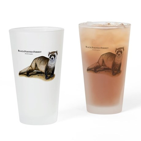 Black-Footed Ferret Drinking Glass