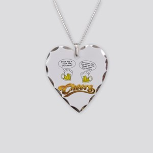 Norm Peterson CHEERS Humor Necklace Heart Charm