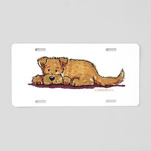 Little Dog Aluminum License Plate