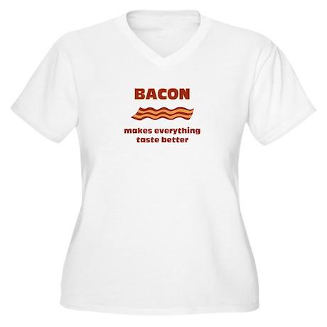 Bacon makes Everything Taste Women's Plus Size V-N