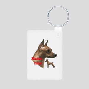 pug love Aluminum Photo Keychain
