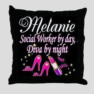 TOP SOCIAL WORKER Throw Pillow