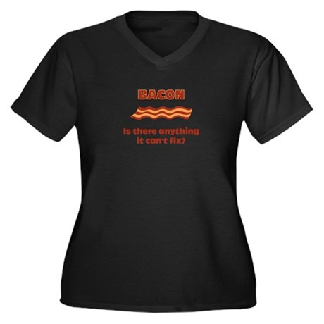 Bacon, Is There Anything It C Women's Plus Size V-