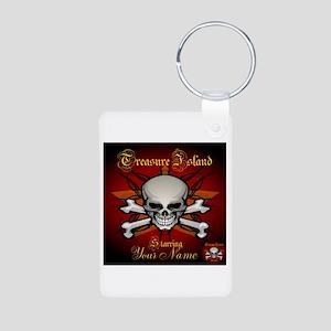 Treasure Island Aluminum Photo Keychain