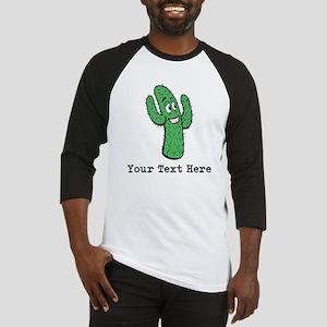 Desert Cacti. Custom Text. Baseball Jersey