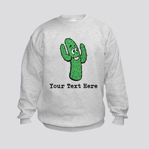 Desert Cacti. Custom Text. Kids Sweatshirt