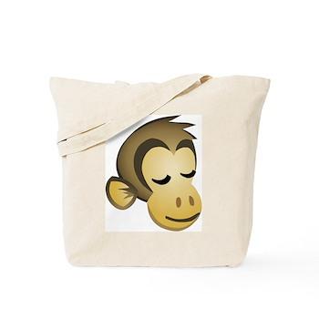 Sleepy Monkey Tote Bag
