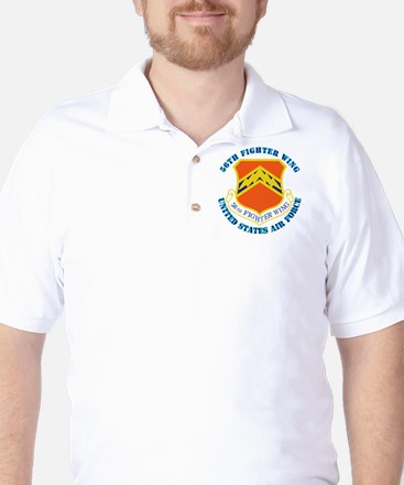 56th Fighter Wing with Text Golf Shirt