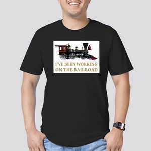 I've Been Working on the Railroad Men's Fitted T-S