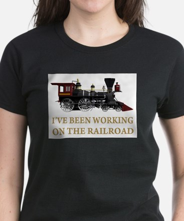 I've Been Working on the Railroad Women's Dark T-S