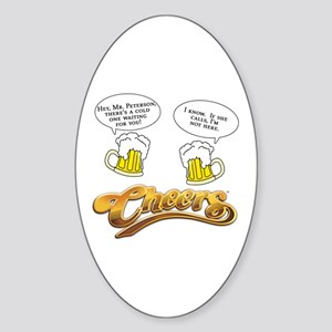 Cheers Classic Norm Humor Sticker (Oval)
