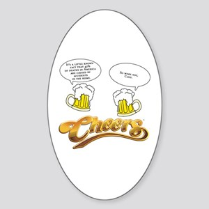 Cliff's Little Known Fact Sticker (Oval)