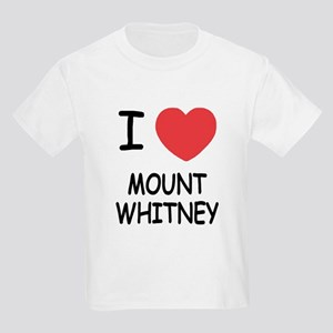 I heart mount whitney Kids Light T-Shirt