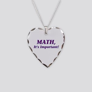 Math, It's Important! Necklace Heart Charm