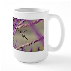 Male Anna's Hummingbird Large Mug