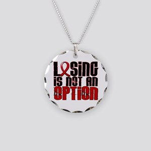 Losing Is Not An Option AIDS Necklace Circle Charm