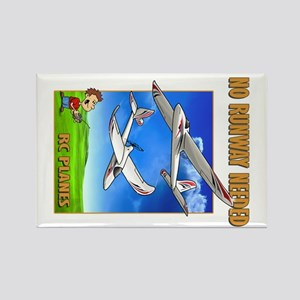 Sky Surfer No Runway Needed Rectangle Magnet