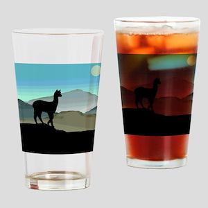 Blue Hills Alpaca Drinking Glass