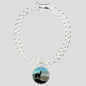 Blue Hills Alpaca Charm Bracelet, One Charm