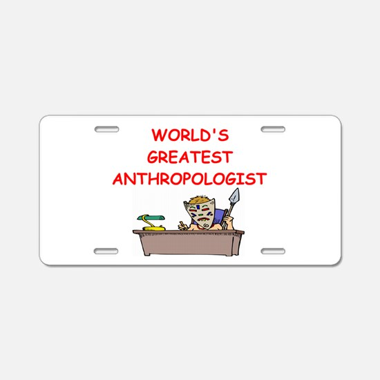 world's greatest anthropolois Aluminum License Pla