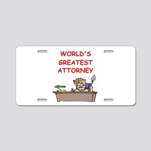 world's greatest attorney Aluminum License Plate