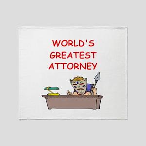 world's greatest attorney Throw Blanket